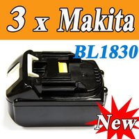Wholesale pack Makita V Lithium Ion Battery BL1830 for Cordless drill Good Quality order lt no track
