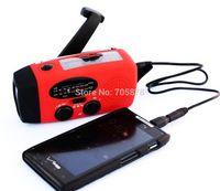 Wholesale solar radio AM FM hand crank solar radio with flashlight LED bright white light emergency phone charger