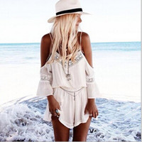 Wholesale toFashion Sexy Summer Woman Clothing White Skort Look Playsuit rompers Skyrise Playsuit