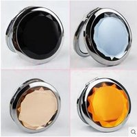 Wholesale 3000pcs CCA3019 cm Folding Makeup Compact Mirror With Crystal Metal Mirror For Wedding Gift Cosmetic Pocket Hand Mirror Compact Mirror