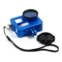 Wholesale Free ePacket XTGP206 Aluminium Alloy Protective Housing Case Shell for GoPro Hero Black Blue Red