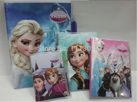 Wholesale Wholesales Portable Frozen PVC Cover Mini NoteBook Snow Queen Pocket Book Notepad