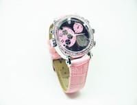 Alta cámara del reloj Calidad Mujer Rosa impermeable HD1080P versión nocturna infrarroja cámara oculta espía 8GB 16GB mini grabadora de vídeo 206 Reloj digital