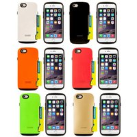 For Apple iPhone apple pocket pc - iface Innovation Hybrid TPU PC Silicone Case Credit Card Slot Armor Cases Back Cover For iPhone S S Plus Galaxy S6 Edge Note A5 E7