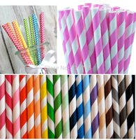 Wholesale colorful drinking paper straw strip drink paper straws colors mixed sale