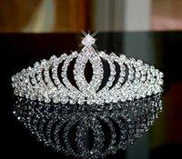 Cheap Bead Crystal Wedding Crown 2016 Bridal Crystal Veil Tiara Crown Headband Hair Accessories Party Wedding Tiara
