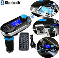 Wholesale Wireless Bluetooth MP3 Player FM Transmitter Dual USB Charger Hands free Car Kit Charger Support SD Card USB for mobile devices