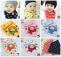 baby monkeys sale - EMS DHL Fashion baby Bibs Autumn Winter scarf Kid Soft Cotton baby clothes Hot Sale Dot Bib Monkey