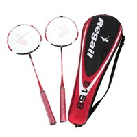 Wholesale One Pair Training Badminton Racket Racquet with Carry Bag Sport Equipment Durable Lightweight Red Yellow Colors