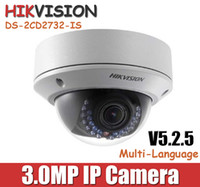 Wholesale Hikvision MP IP Camera DS cd2735f is to replace DS CD2732F IS P CCTV camera Vandal proof dome POE camera mm varifocal Lens