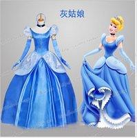 Wholesale Custom Made Cinderella Dress Adult Cinderella Cosplay Costume Adult Cinderella Costume