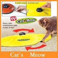 Wholesale High quality Cat s Meow Cat s Meow Cat Toy Undercover Mouse Electronic Cat Toys Cat Play Toy Cat Training Tool Dropshipping