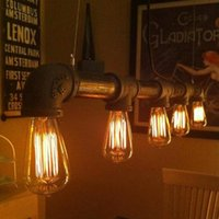 study room furniture - Retro nostalgia of old furniture industrial lighting fixtures plumbing wind creative personality restaurant dining room chandelier study