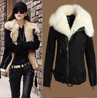 Cheap Hot Sell!2015 Women's New Warm Lush Fur Winter Coat Black Outerwear Jacket Parka sequin blazer