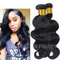 body wave hair extension - Brazilian Hair Human Hair Weave Virgin Brazilian Hair Bundles Unprocessed Peruvian Indian Malaysian Body wave Curly Hair Extensions