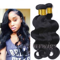 human hair extensions - Brazilian Hair Human Hair Weaves Body Wave Inch Unprocessed Hair Bundles wefts Peruvian Indian Malaysian Dyeable Hair Extensions