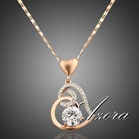 lia sophia - AZORA K Rose Gold Plated Stellux Crystals Heart Pendant Necklace for Valentine s Day Gift of Love TN0009