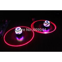 Wholesale retail Single Laser LED Music Gyro Colorful Light Plastic Peg Top Spinning Classic Toy