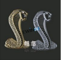 abs weather - 3D Car Sticker Decal Adhesive Window Door Snake Shaped weather proof ABS electro gilding gold silver