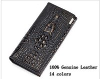 Wholesale 100 Genuine cowhide leather brand designer women wallets colors Crocodile D purse fashion leather luxury wallets hot selling