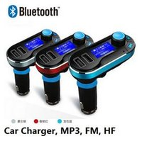 best bluetooth car kits - Hot Sale Best Bluetooth Car Kit Handsfree MP3 Player With FM Transmitter Dual USB Car Charger Support SD Line in AUX DHL