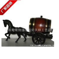 Wholesale Antique oak l paint factory direct automobile ornaments wooden cask horse drawn carriages