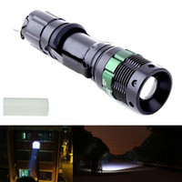 Wholesale Outdoor camping Flashlight Hot Sell Lumen Zoomable CREE XM L Q5 LED flashlights torches light lamps