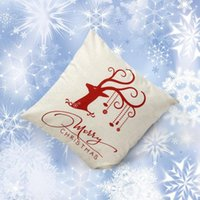 Cheap 2015 Vintage Christmas Deer Sofa Bed Home Decoration Festival Pillow Case Cushion Cover Rosonse