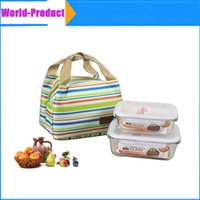 Wholesale Cooler Lunch Box Carry Tote Storage Bag Portable Insulated Thermal Travel Picnic fashion storage bags