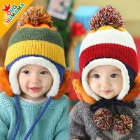 Winter bomber hat - New Arrival Winter Baby Hats Children s Woolen Hats Plus Velvet Bomber Hats For M Babies