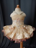Cheap 2015 Infant toddler baby children kids Girl's Pageant evening prom ball Dress clothing gown for birthday,wedding,bridal,gift,party