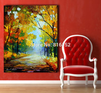 One Panel Oil Painting Fashion Palette Knife Oil Painting Park Scenery Landscape Drawing Mural Art for Bedroom Living Room Home Wall Decoration