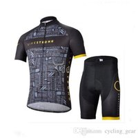 livestrong - Livestrong Summer Cycling Jersey Sets Bicycle Clothes Bicycle Wear Cycle Short Sleeve Jersey Bib Shorts Livestrong Cycling Jersey