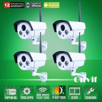 Cheap 4pcs Onvif H.264 Sony Sensor 2MP 1080P Full HD 25fps Wireless Network WIFI IP Camera Array IR Outdoor Security CCTV Camera
