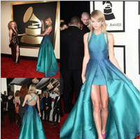 Wholesale Taylor Swift High Low Evening Dresses Custom Made Sexy Backless Celebrity Formal Dress Pageant Prom Gowns th Grammy award
