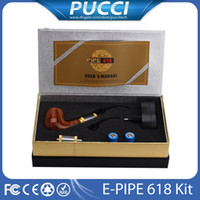 Cheap Single E pipe 618 Starter Kit Best Wood Grain Plastic E pipe Kit