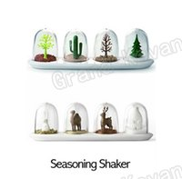 Wholesale Animal Parade Four Seasons Spice Seasoning Salt Pepper Shaker Jar a Set