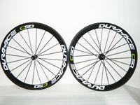 Cheap Basalt brake surface carbon road bike wheels clincher Dura Ace C50 carbon road bicycle wheel set green tubular rims with Powerway R36 hubs
