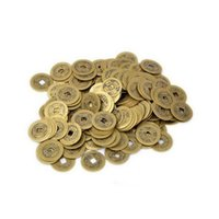 ancient craft - 100pcs mm metal crafts vintage Chinese Coins Feng Shui Lucky Ching Ancient set Educational Ten emperors Antique Fortune Money