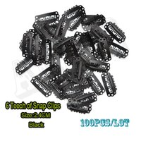 Wholesale 100pcs Small Hair Extension Snap Clips mm Hair Extensions Black Metal Clip For Weaving