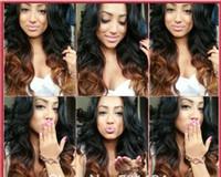 Cheap Peruvian Vrigin human hair wigs Best Ombre human hair full lace wig