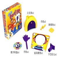 Wholesale 2016 Christmas Korea Running Man Pie Face Cream Game On Her Face Hit The Send Machine Paternity Toy Rocket Catapult Consoles for Party gift