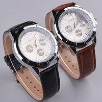 Fashion battery facts - Luxury watch Mens watches LONDA PU positive brand watches for men and women s casual retro fashion personality couple watches belt fact