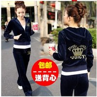 Pullover suit fabric - Spring Fall Women s Velvet fabric Tracksuits Velour suit women Sport Track suit Hoodies Pants SIZE S XXL