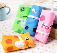 Wholesale Cute Cartoon Animal Bag Foldable Storage Eco Reusable Shopping Bag