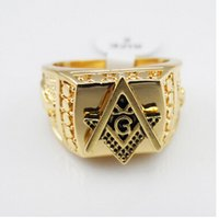 Wholesale gold rings mens rings freemason masonic ring for men master free mason signet ring in stainless steel customer ring design