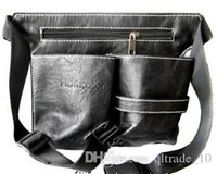 Wholesale 100pcs CCA2280 High Quality Professional Multifunctional Hairdressing Tool Bags Leather Barber Salon Scissor Bag Case Waist Belt Bag