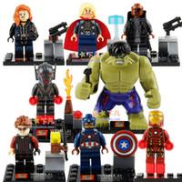 age blocks - High Quality Super Hero Avengers Age of Ultron Hulk Ironman Thor of Hammer Mini figures building blocks