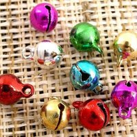 Wholesale 100 Jingle Bells christmas Mixed Colors beads Charms mm