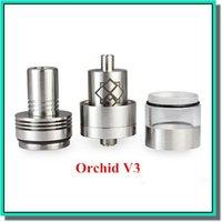 Metal channel - Orchid v3 RDA atomizer clone stainless steel vaporizer four channels huge vape DIY RDA RBA tank orchid v3 VS patriot omega dark house